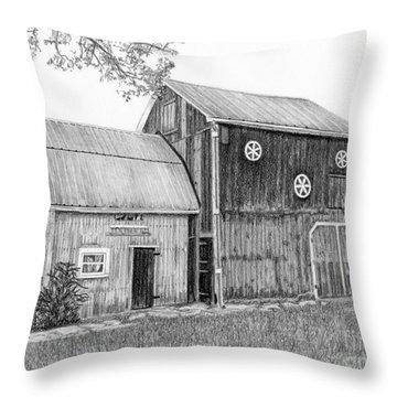 Old Barn Throw Pillow by Sarah Batalka