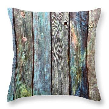 Old Barnyard Gate Throw Pillow by Asha Carolyn Young