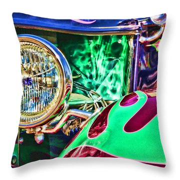 Old Betty Ford Vintage Car By Diana Sainz Throw Pillow