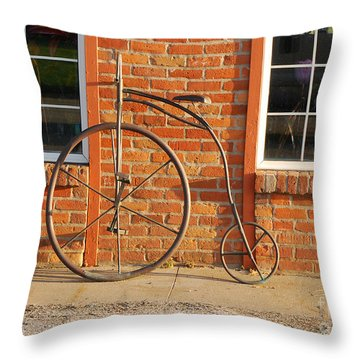 Old Bike Throw Pillow by Mary Carol Story