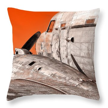 Old Bird Throw Pillow
