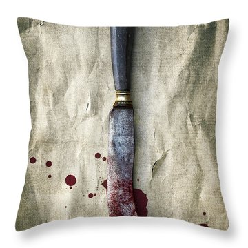 Old Bloody Knife Throw Pillow