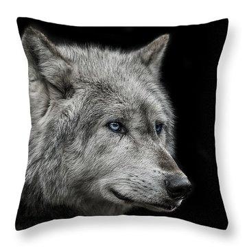 Old Blue Eyes Throw Pillow