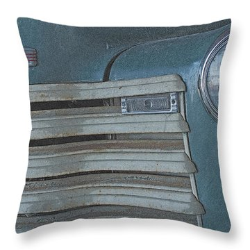 Throw Pillow featuring the photograph Old Blue by Lynn Sprowl