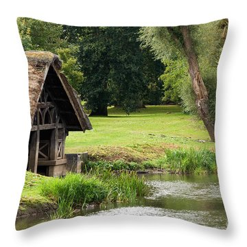 Old Boathouse Throw Pillow by Rick Piper Photography