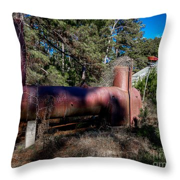Old Boiler Three Throw Pillow