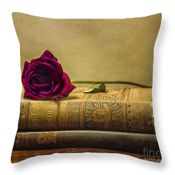 Old Book Love Throw Pillow