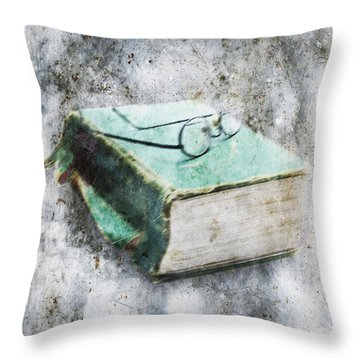 Old Book Throw Pillow by Skip Nall