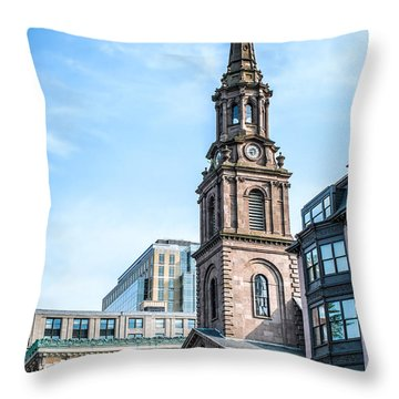 Throw Pillow featuring the photograph Old Boston by Boris Mordukhayev