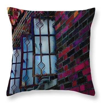 Old Brick Renewed Throw Pillow
