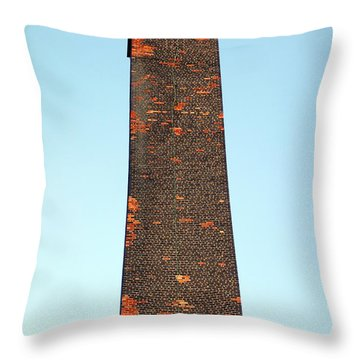 Old Brick Stack Throw Pillow by Valentino Visentini