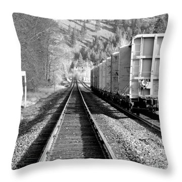 Old Bristol Rail In Ellensburg Throw Pillow