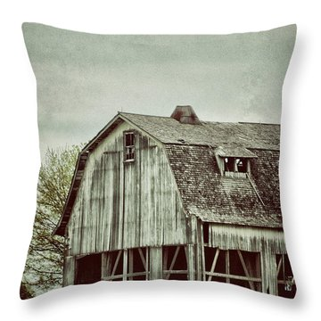 Old Broken Barn Throw Pillow