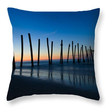 Throw Pillow featuring the photograph Old Broken 59th Street Pier by Louis Dallara