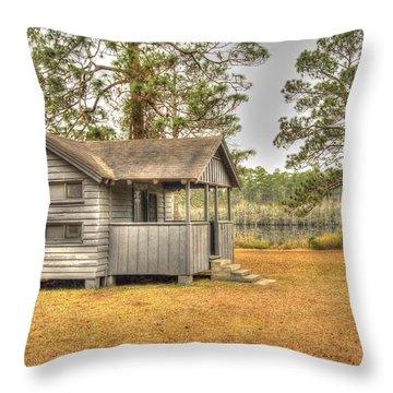 Old Cabin In Georgia Throw Pillow
