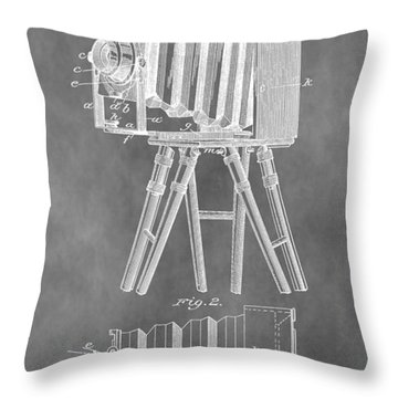 Old Camera Patent Throw Pillow