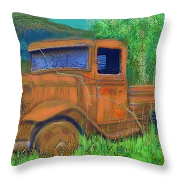 Old Canadian Truck Throw Pillow