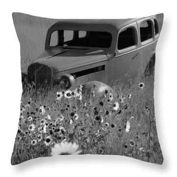 Throw Pillow featuring the photograph Old Car by Leticia Latocki