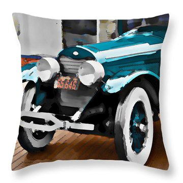Old Car Throw Pillow by Robert Smith