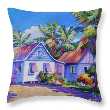 Old Cayman Cottages Throw Pillow