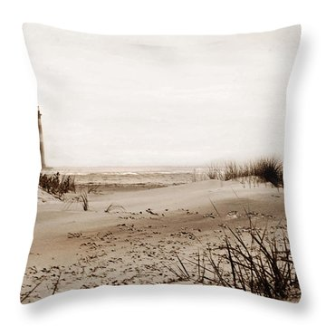 Old Charleston Harbor Throw Pillow by Skip Willits