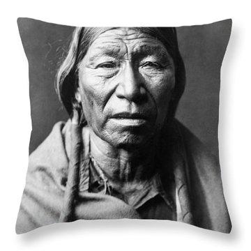 Old Cheyenne Man Circa 1910 Throw Pillow