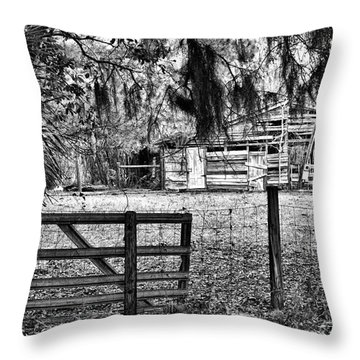 Old Chisolm Island Barn Throw Pillow