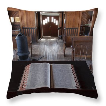 Old Church From Pulpit Throw Pillow