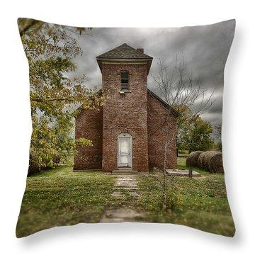 Old Church In Fall Throw Pillow