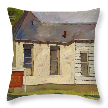 Old Circus H.q. Throw Pillow by Charlie Spear