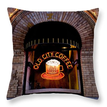 Old City Coffee Throw Pillow