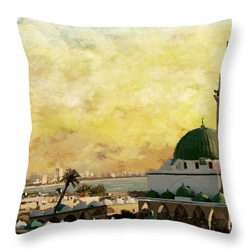 Old City Of Acre Throw Pillow