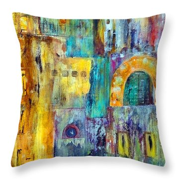 Old City West Throw Pillow