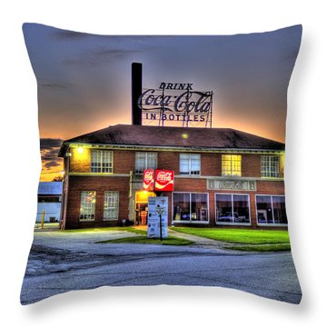 Old Coca Cola Bottling Plant Throw Pillow