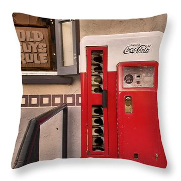 Old Guys Rule Throw Pillow by Claudia Ellis