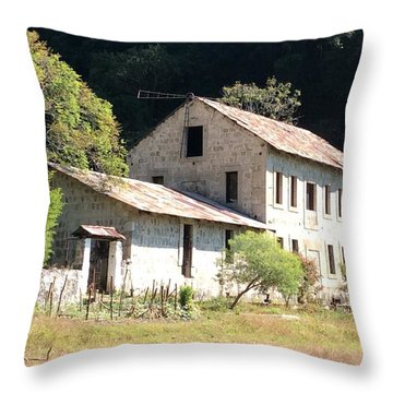 Old Coffee Mill Throw Pillow