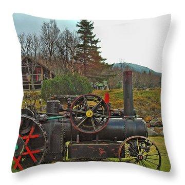 Old Cog Throw Pillow by Joann Vitali
