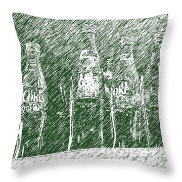 Throw Pillow featuring the photograph Old Coke Bottles by Greg Reed