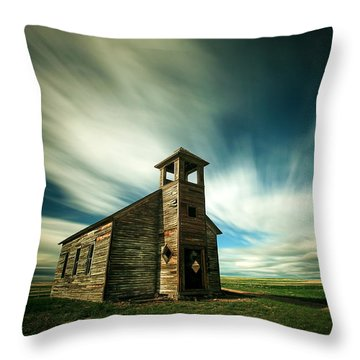 Old Cottonwood Church Throw Pillow