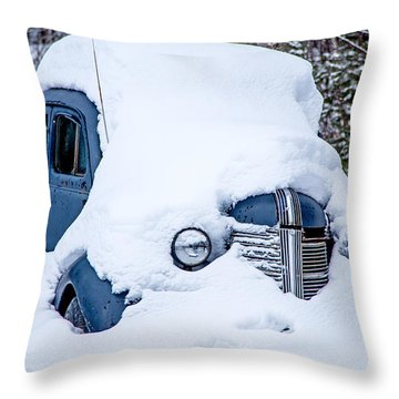 Old Coupe Throw Pillow