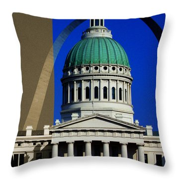 Old Courthouse Dome Arch Throw Pillow