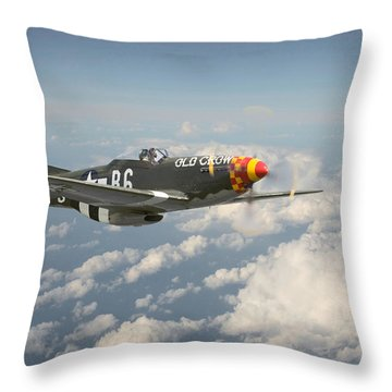 P51 Mustang - 'old Crow' Throw Pillow