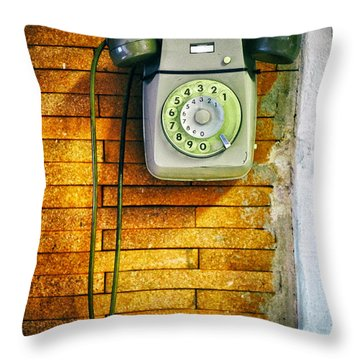 Old Dial Phone Throw Pillow by Fabrizio Troiani