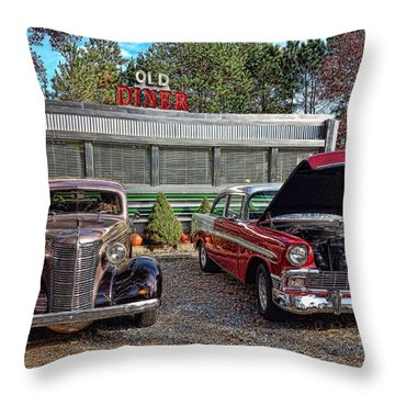 Old Diner Throw Pillow