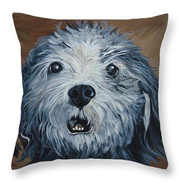 Old Dogs Are The Best Dogs Throw Pillow