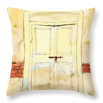 Old Door Throw Pillow by Keshava Shukla
