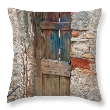 Throw Pillow featuring the photograph Old Door by Susan Leonard