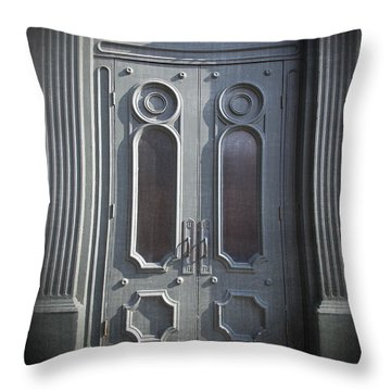 Old Doorway Quebec City Throw Pillow
