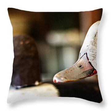 Old Duck Decoys Throw Pillow