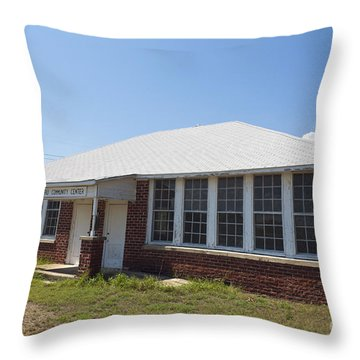 Old Duffau Schoolhouse Throw Pillow by Jason O Watson